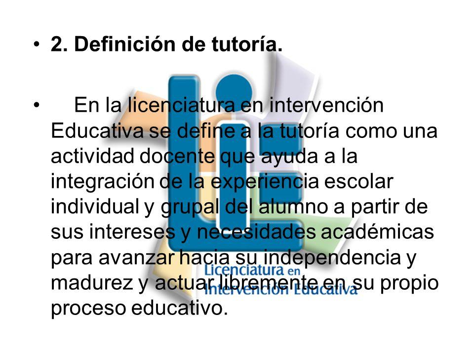 2. Definición de tutoría.