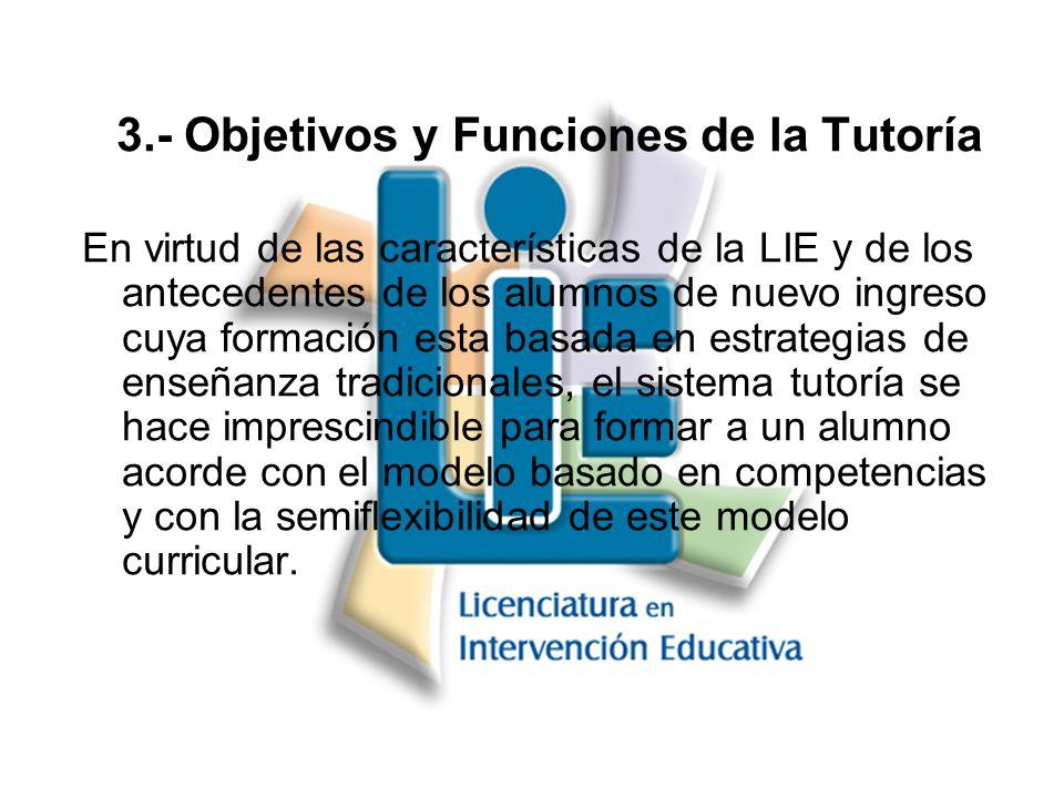 3.- Objetivos y Funciones de la Tutoría