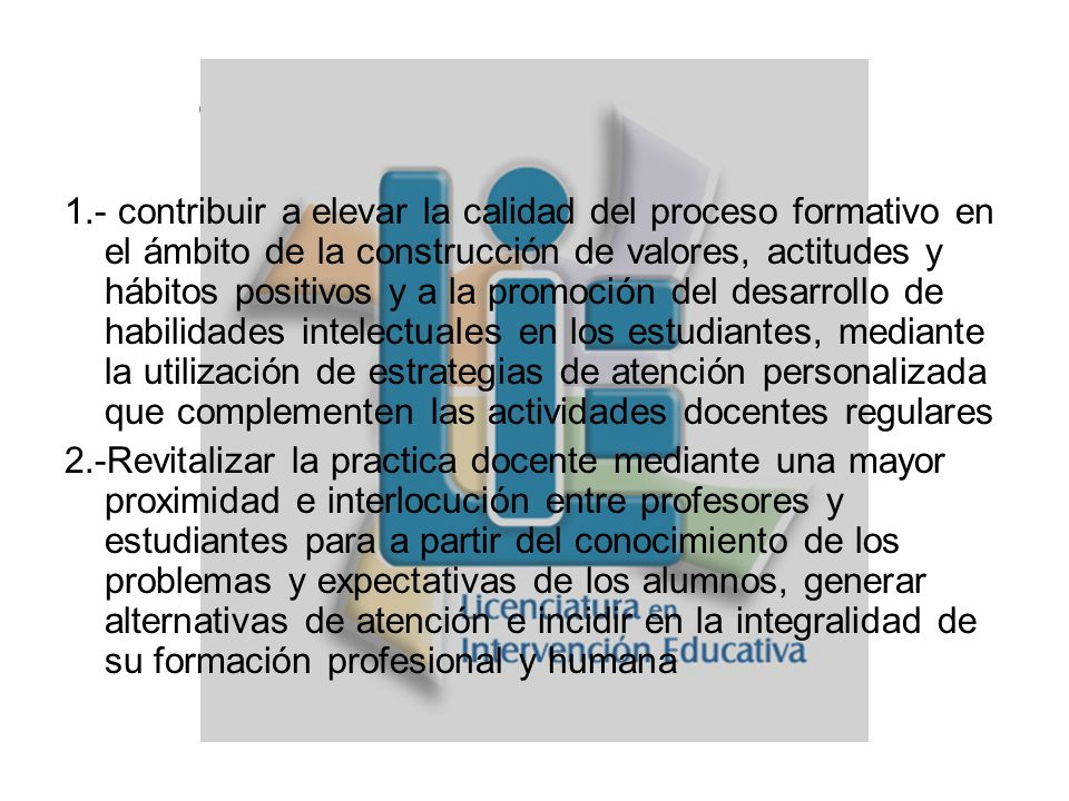 4.-Objetivos Generales