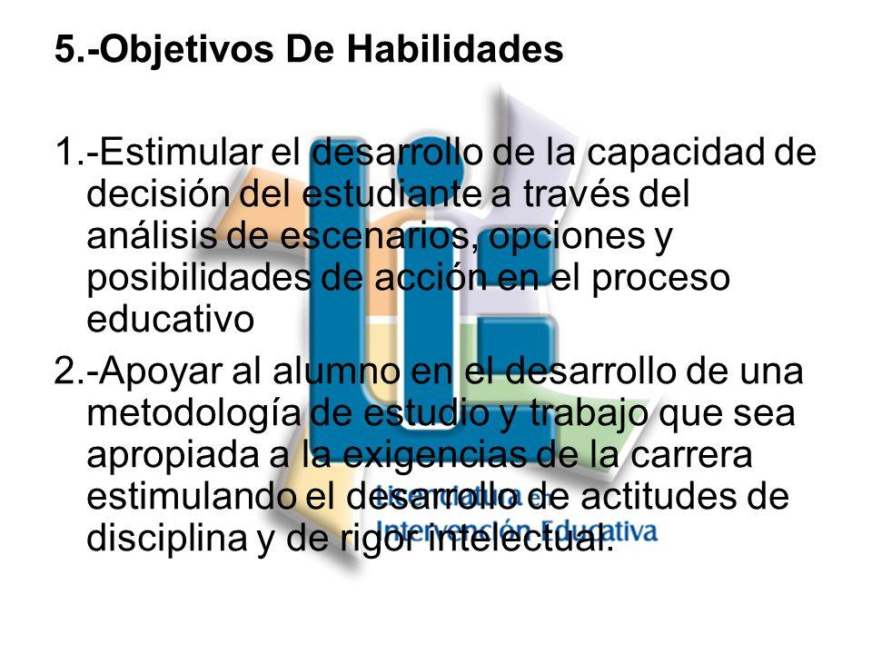 5.-Objetivos De Habilidades