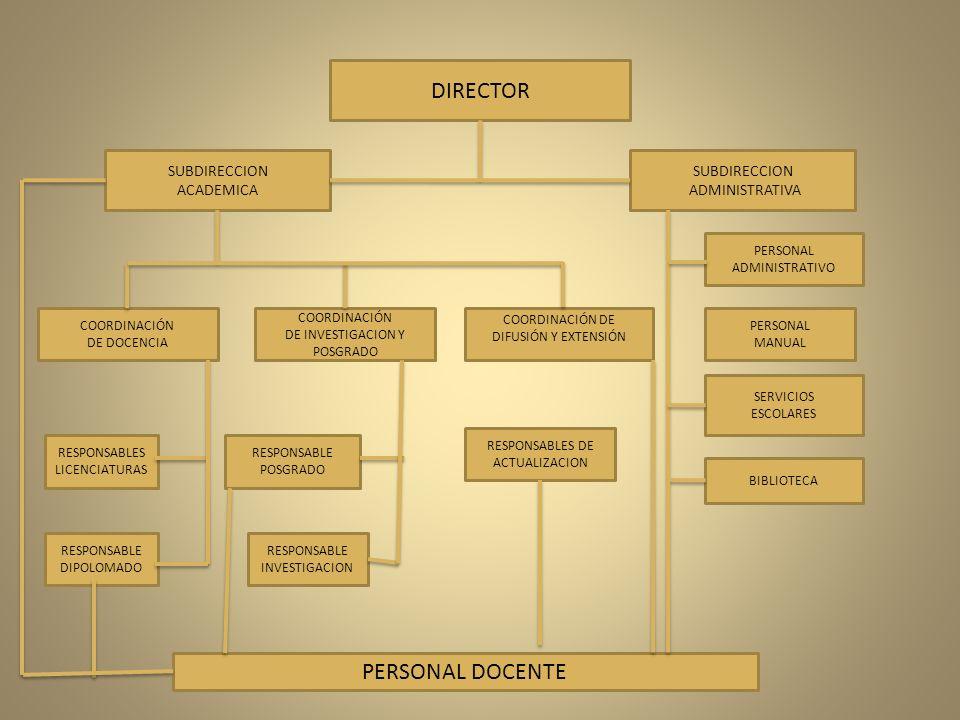 DIRECTOR PERSONAL DOCENTE SUBDIRECCION ACADEMICA SUBDIRECCION