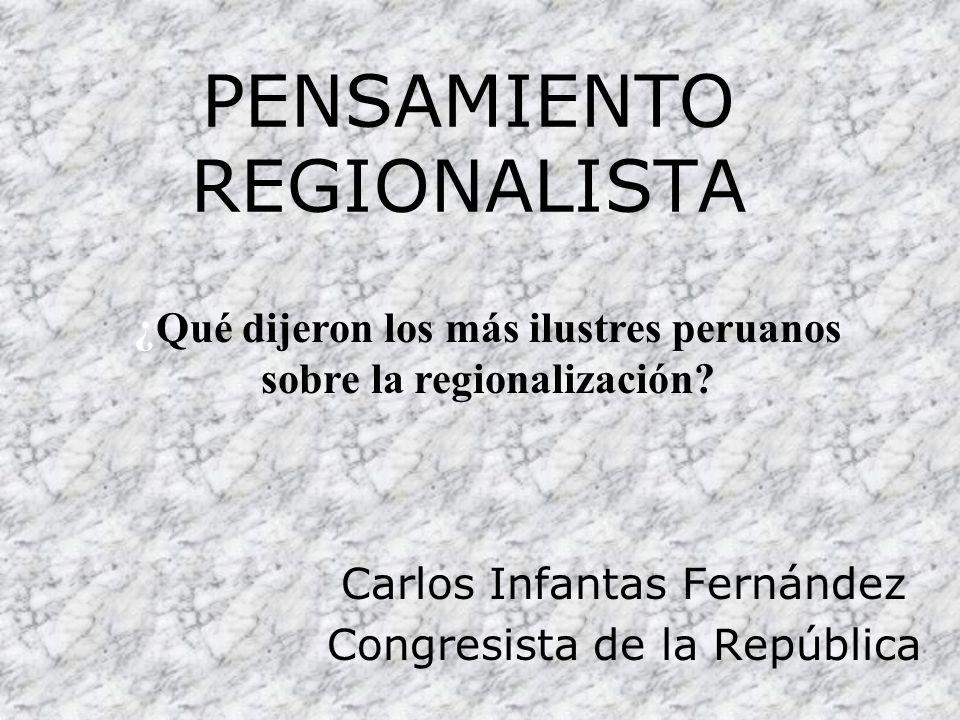 PENSAMIENTO REGIONALISTA