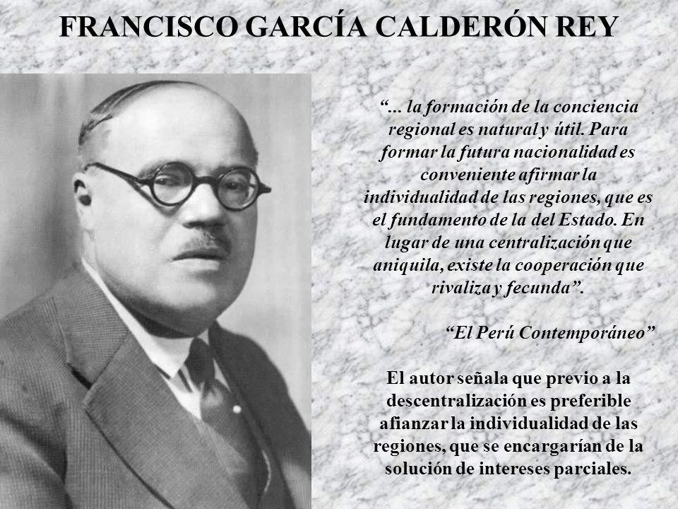 FRANCISCO GARCÍA CALDERÓN REY
