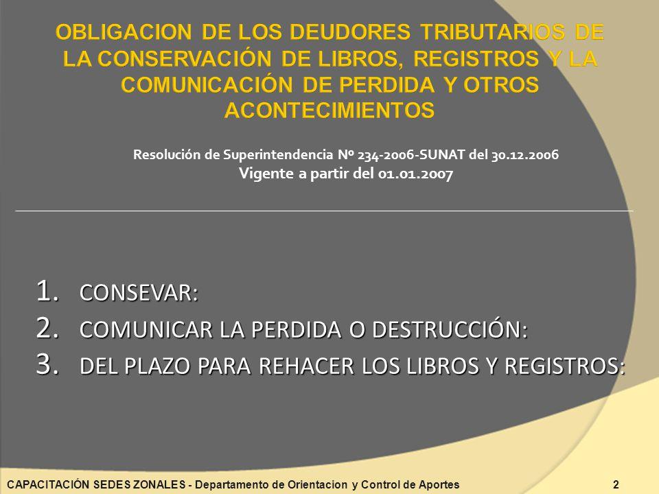 Resolución de Superintendencia Nº 234-2006-SUNAT del 30.12.2006