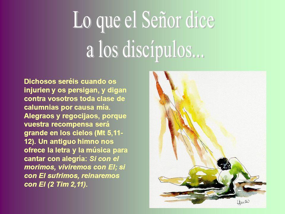 Lo que el Señor dicea los discípulos...