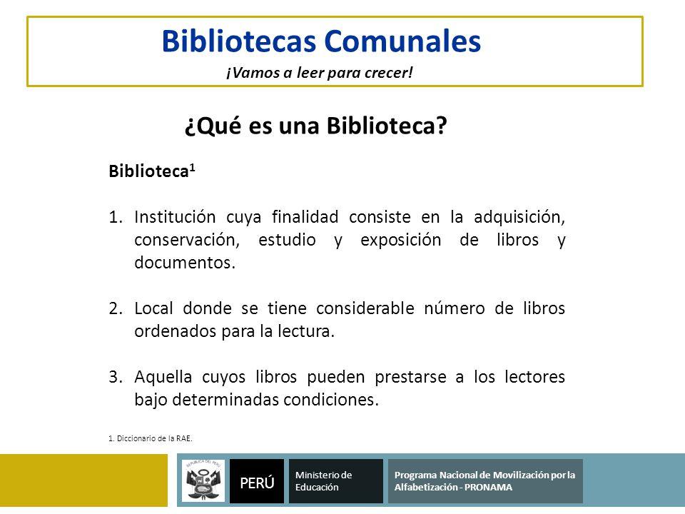 Bibliotecas Comunales