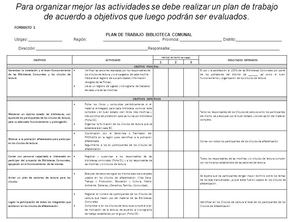 PERIODO DE TIEMPO (en meses) OBJETIVOS ESPECÍFICOS