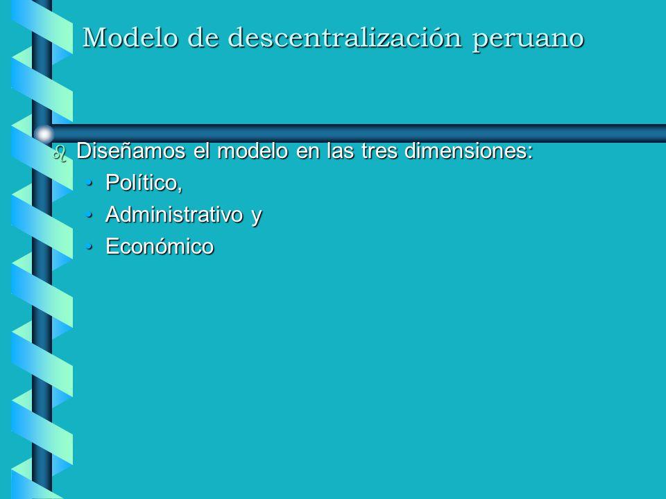 Modelo de descentralización peruano