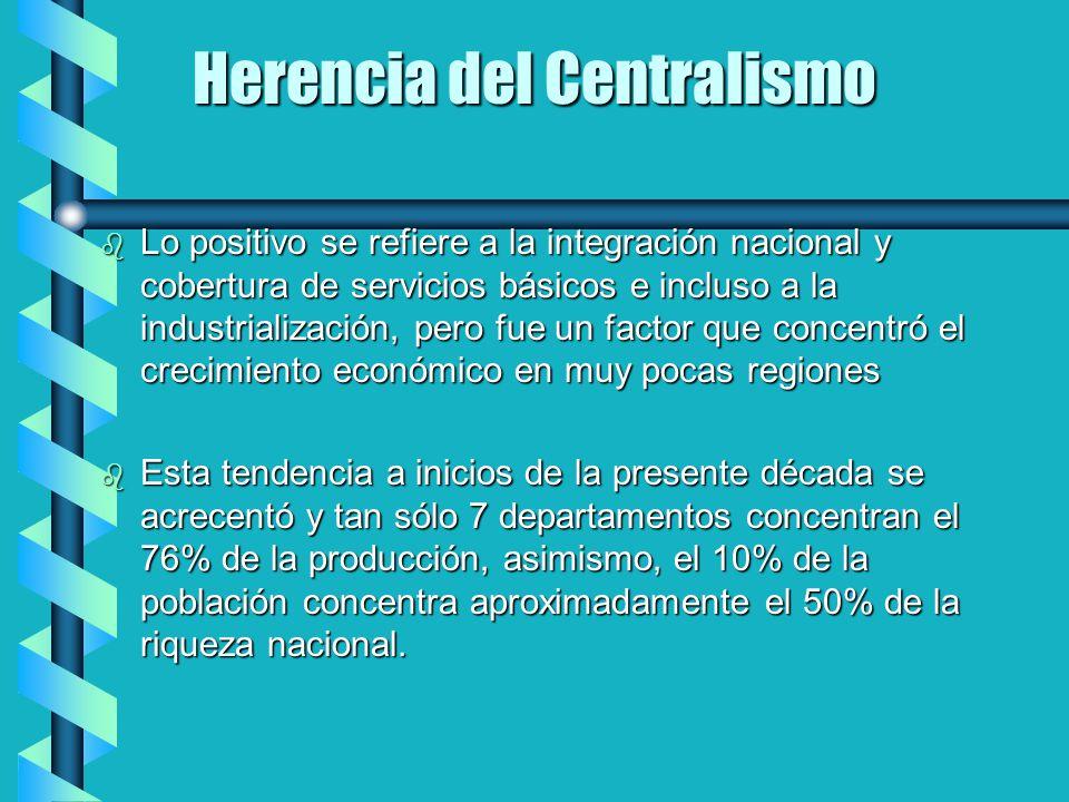 Herencia del Centralismo