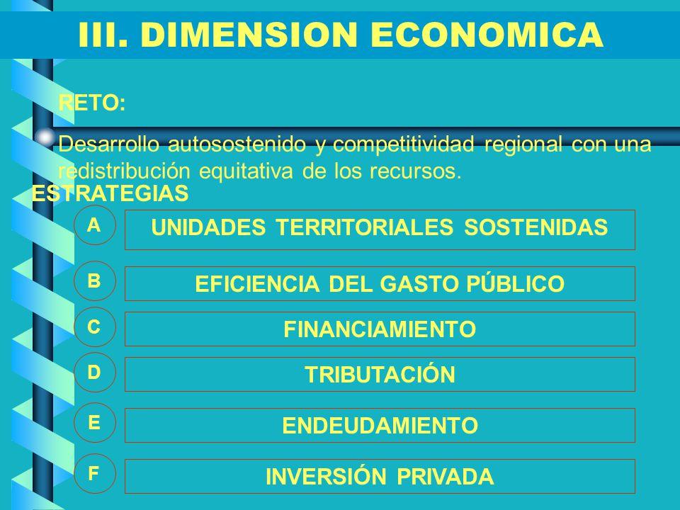 III. DIMENSION ECONOMICA