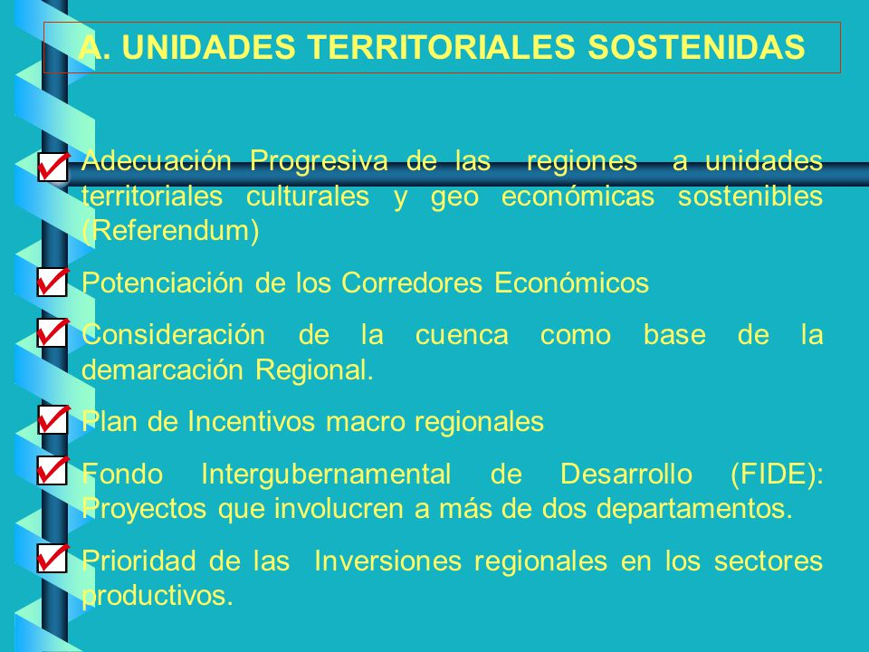 A. UNIDADES TERRITORIALES SOSTENIDAS