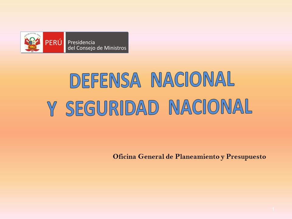 Defensa nacional y seguridad nacional ppt video online for Oficina nacional de seguridad