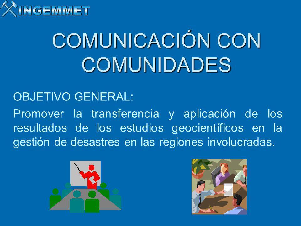 COMUNICACIÓN CON COMUNIDADES