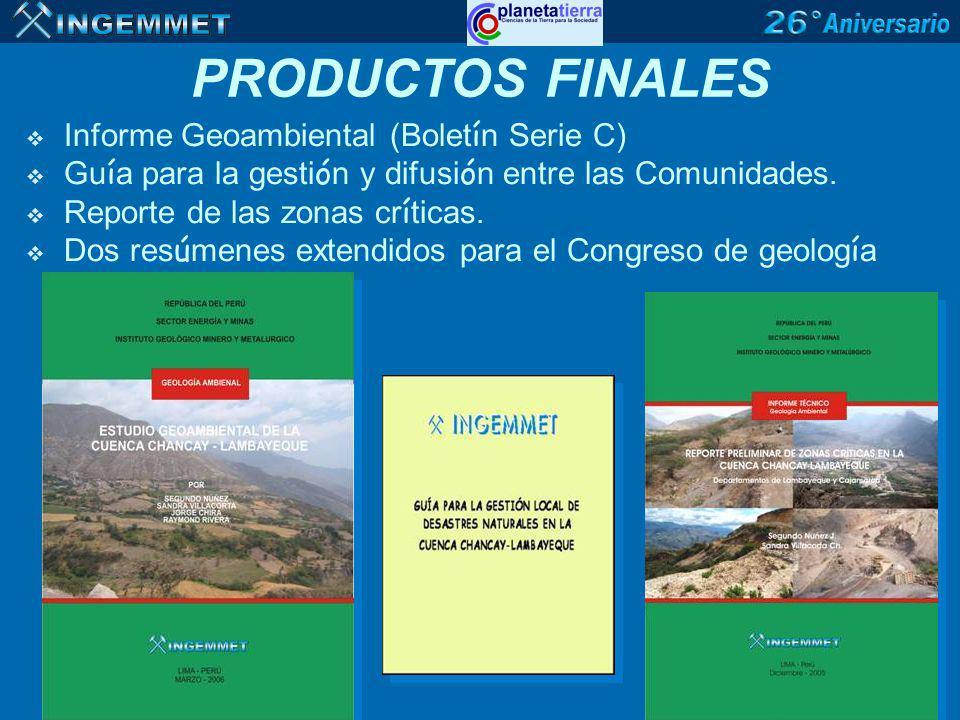 PRODUCTOS FINALES Informe Geoambiental (Boletín Serie C)
