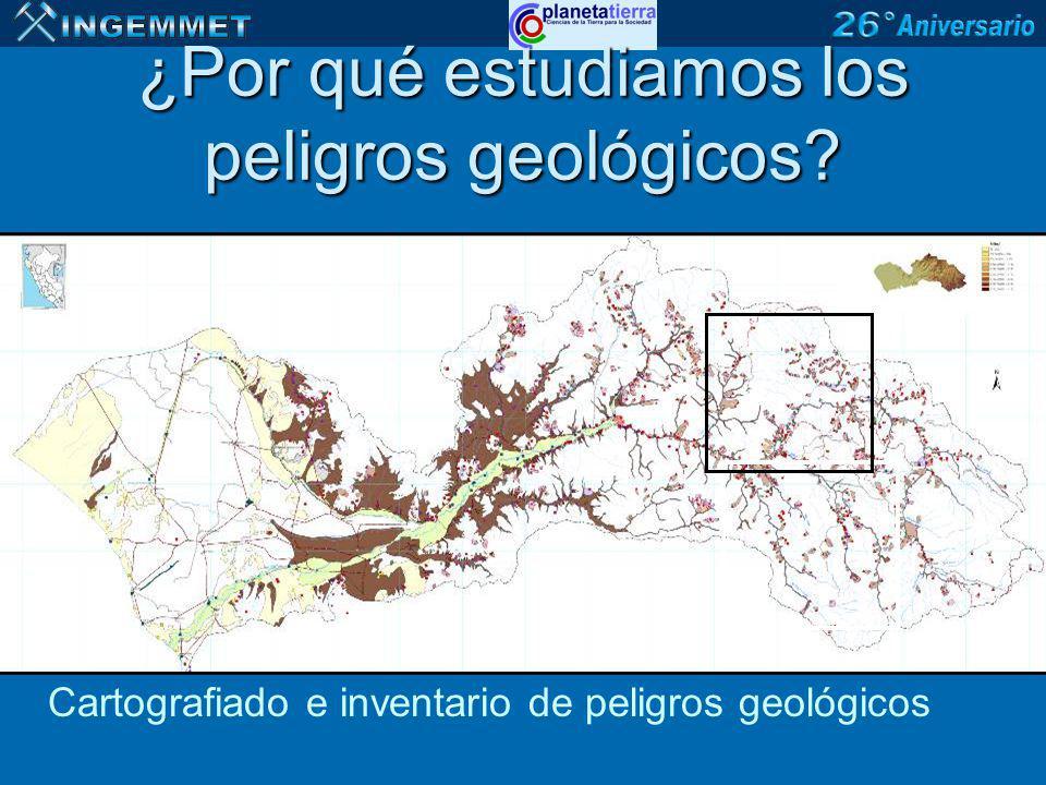 ¿Por qué estudiamos los peligros geológicos
