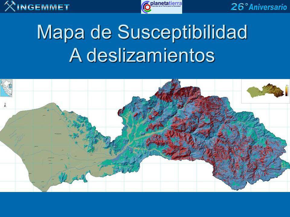 Mapa de Susceptibilidad