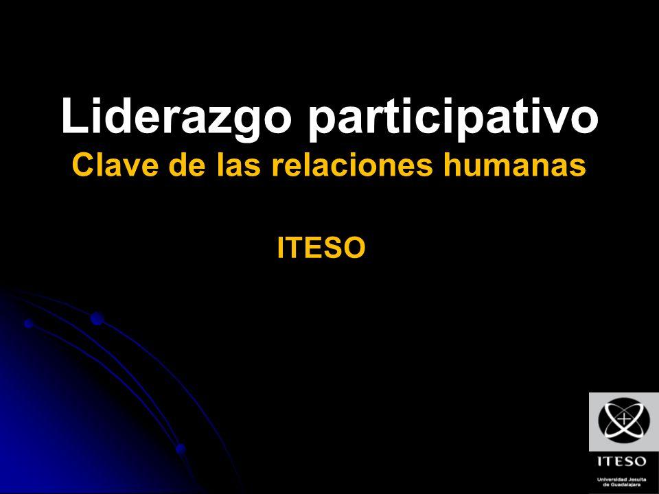 Liderazgo participativo Clave de las relaciones humanas