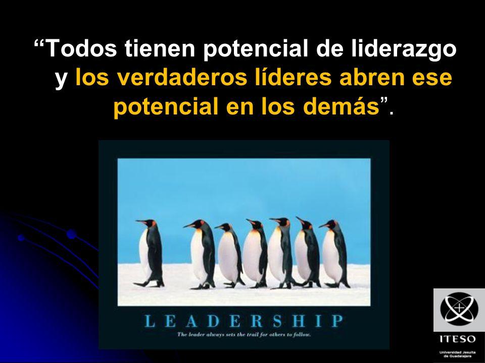 Todos tienen potencial de liderazgo y los verdaderos líderes abren ese potencial en los demás .