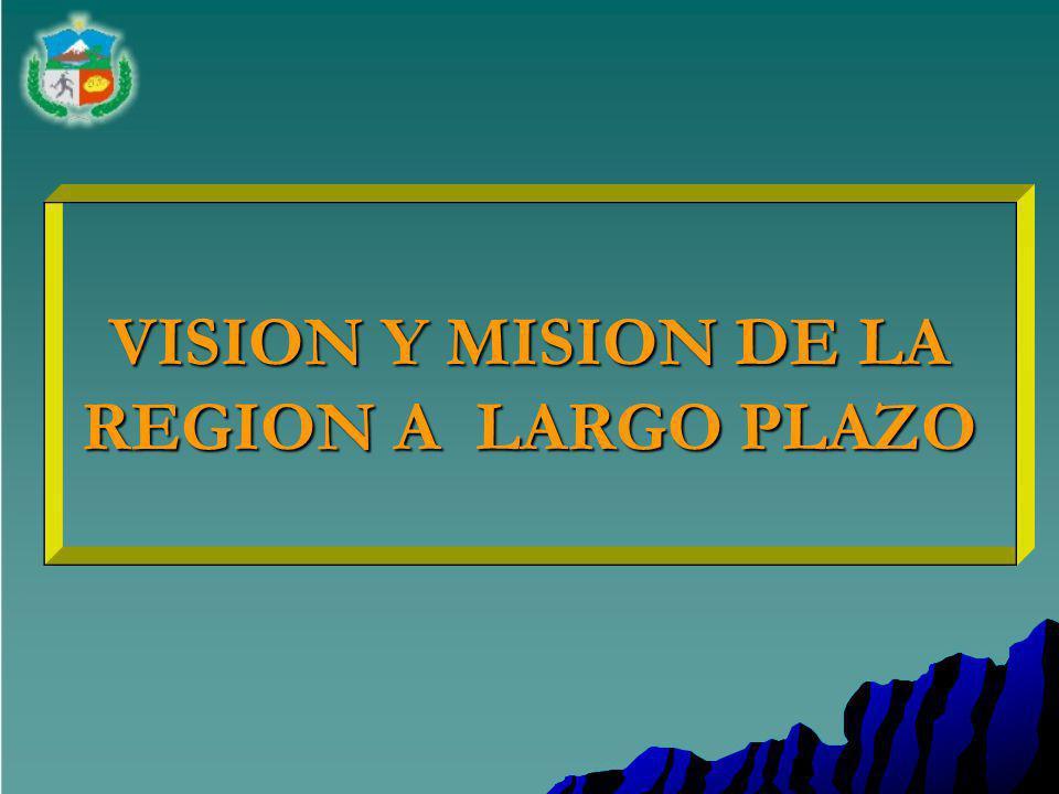 VISION Y MISION DE LA REGION A LARGO PLAZO
