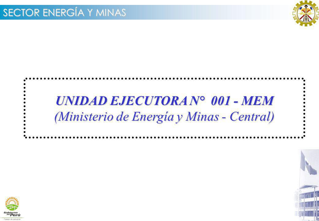 UNIDAD EJECUTORA N° 001 - MEM (Ministerio de Energía y Minas - Central)