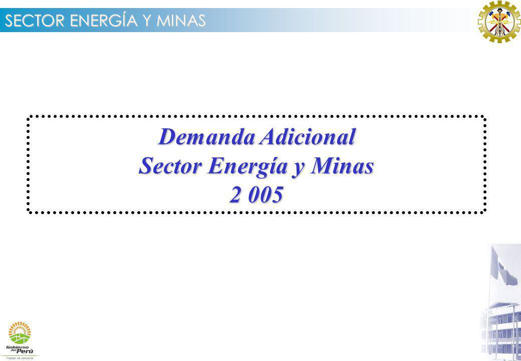 Demanda Adicional Sector Energía y Minas 2 005