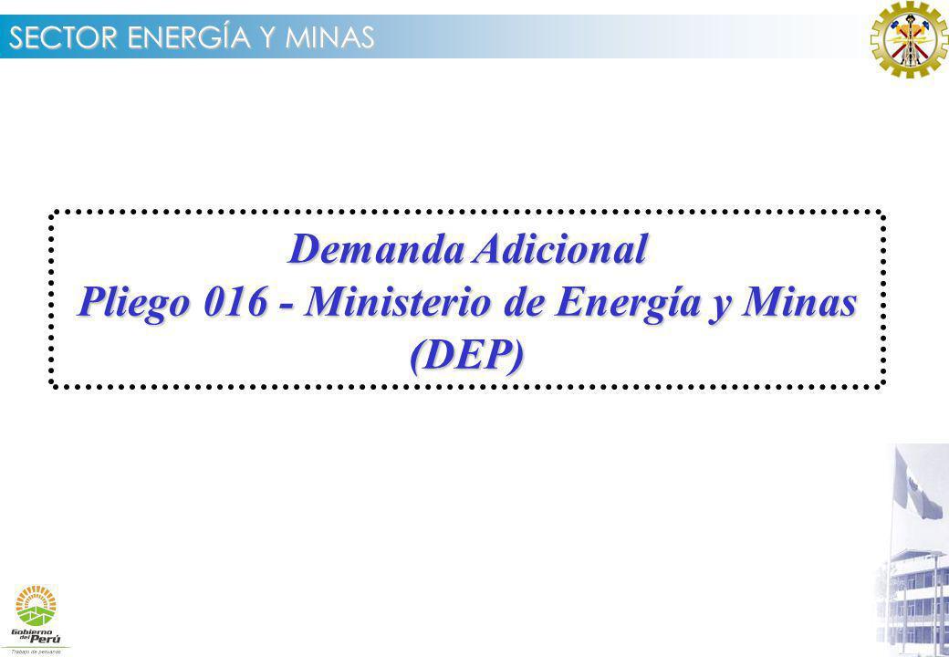 Demanda Adicional Pliego 016 - Ministerio de Energía y Minas (DEP)