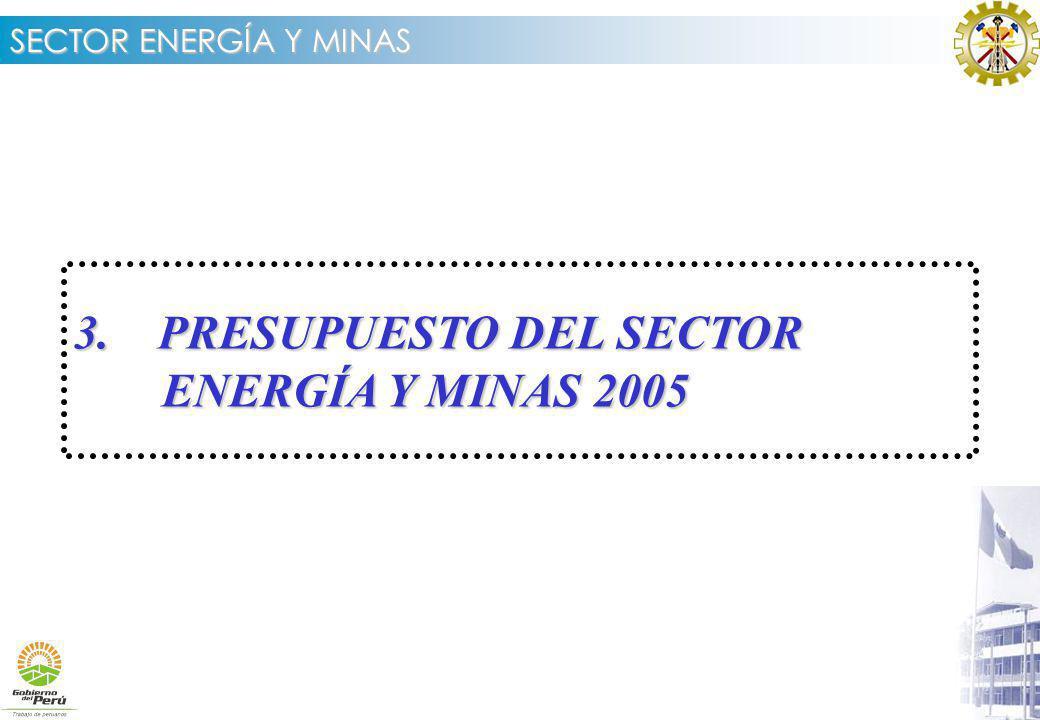 3. PRESUPUESTO DEL SECTOR ENERGÍA Y MINAS 2005