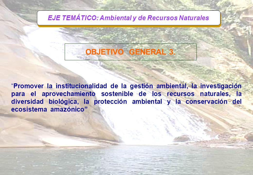 EJE TEMÁTICO: Ambiental y de Recursos Naturales