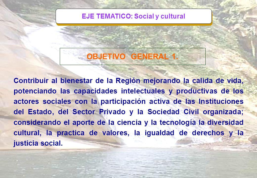 EJE TEMATICO: Social y cultural