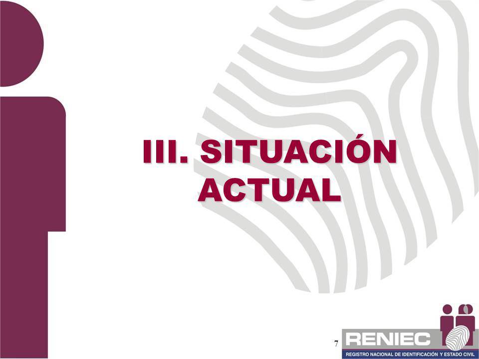III. SITUACIÓN ACTUAL