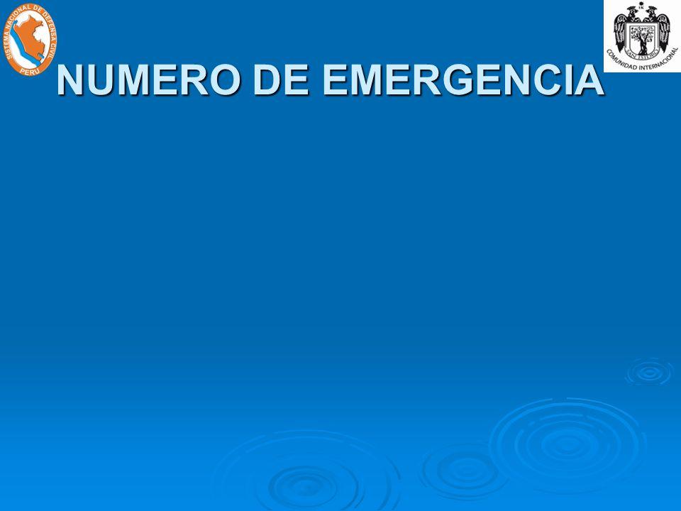 NUMERO DE EMERGENCIA