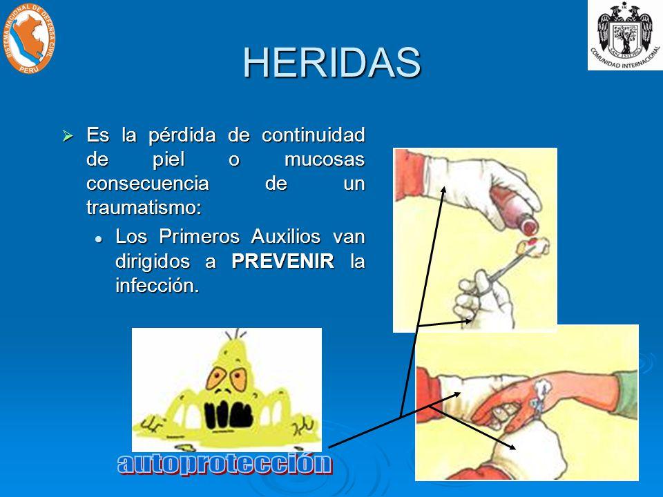 HERIDAS autoprotección