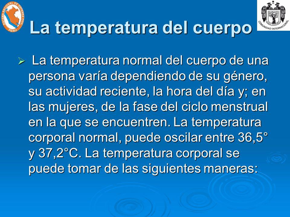 La temperatura del cuerpo