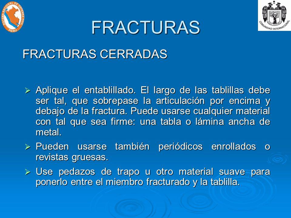 FRACTURAS FRACTURAS CERRADAS