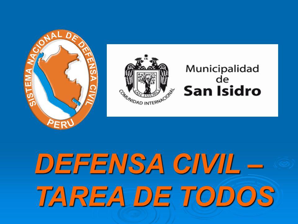 DEFENSA CIVIL – TAREA DE TODOS
