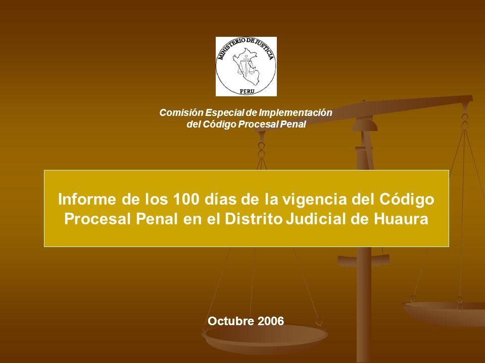 Informe de los 100 días de la vigencia del Código