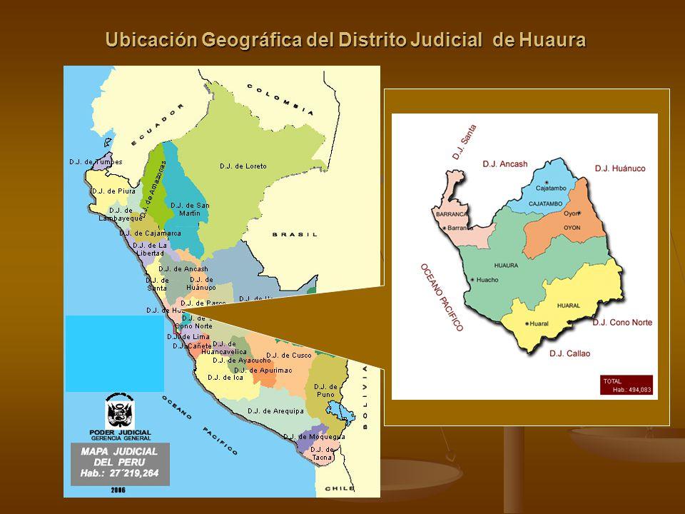 Ubicación Geográfica del Distrito Judicial de Huaura