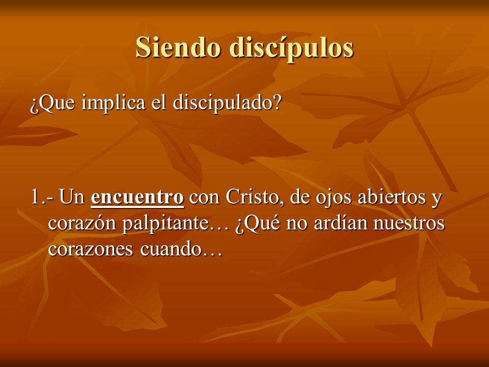 Siendo discípulos ¿Que implica el discipulado