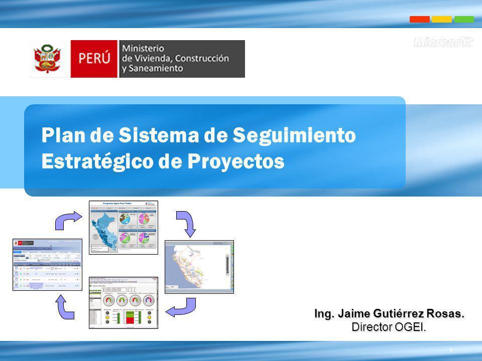 Plan de Sistema de Seguimiento Estratégico de Proyectos