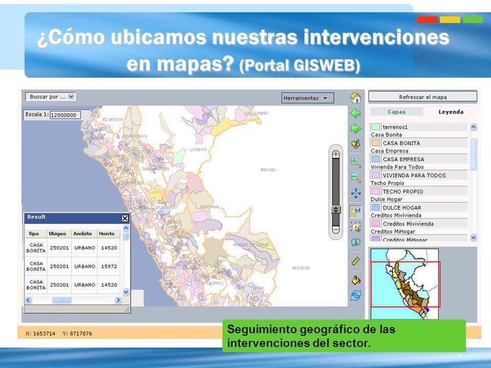 ¿Cómo ubicamos nuestras intervenciones en mapas (Portal GISWEB)