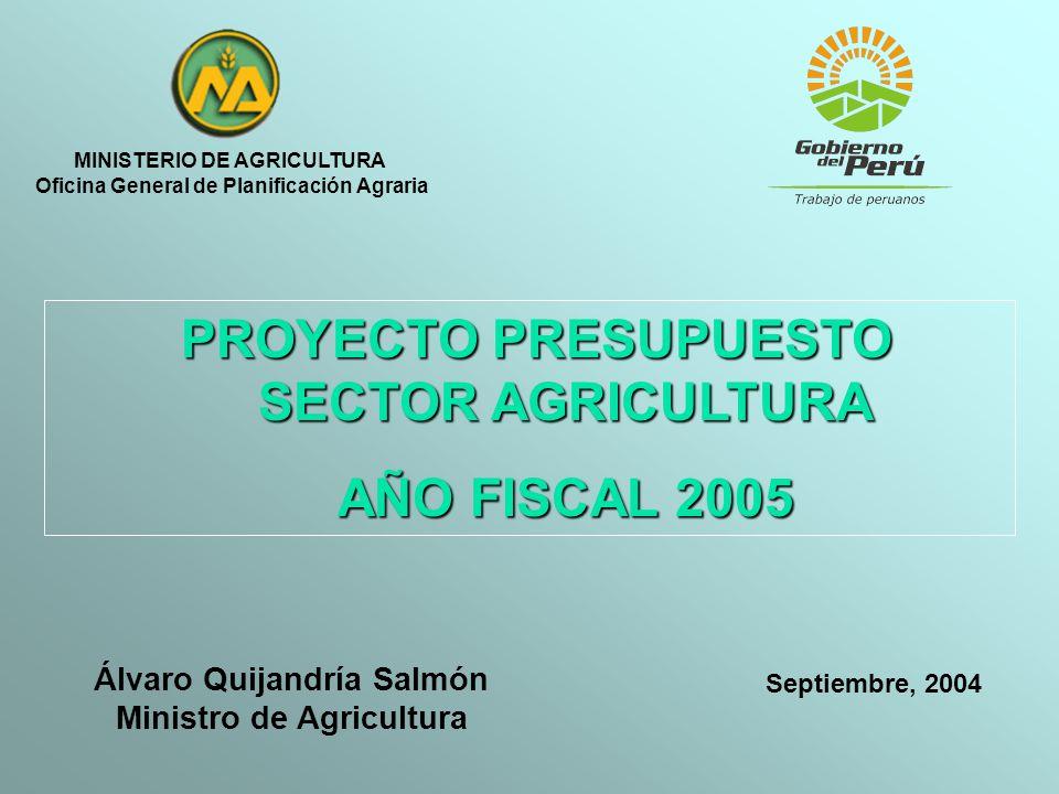 MINISTERIO DE AGRICULTURA Oficina General de Planificación Agraria