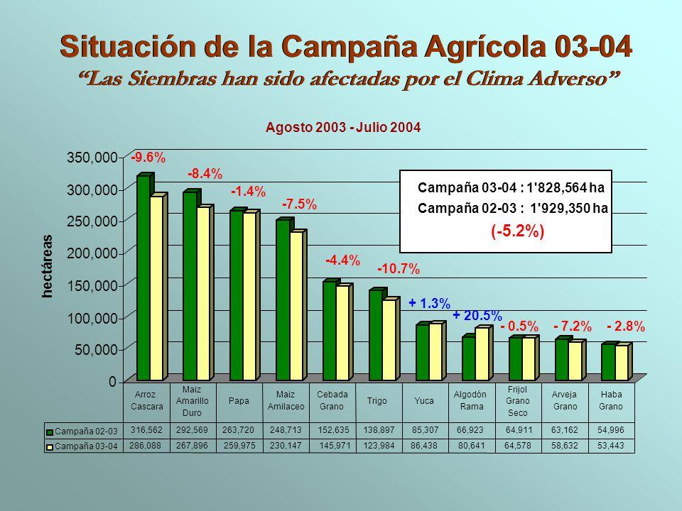 Situación de la Campaña Agrícola 03-04
