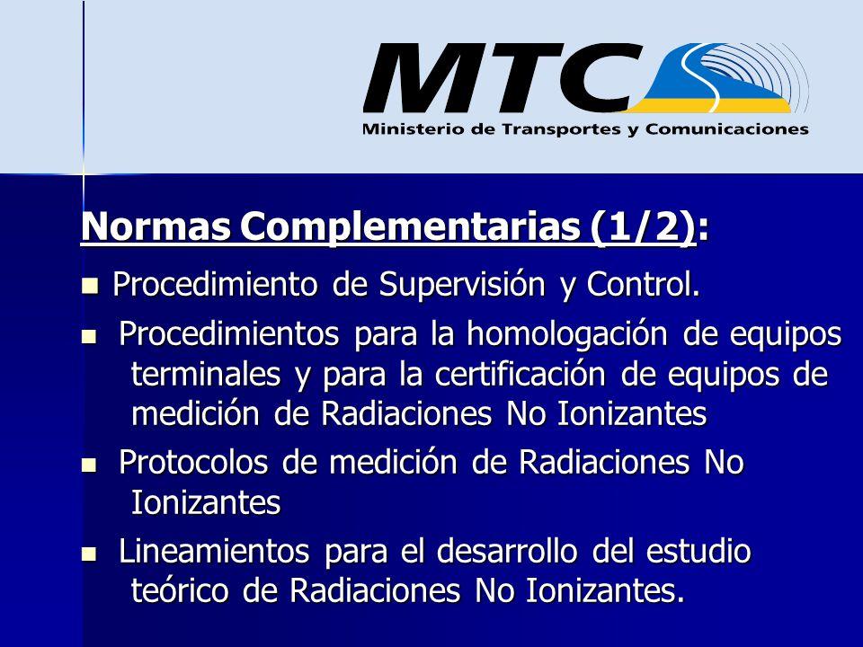 Normas Complementarias (1/2): Procedimiento de Supervisión y Control.