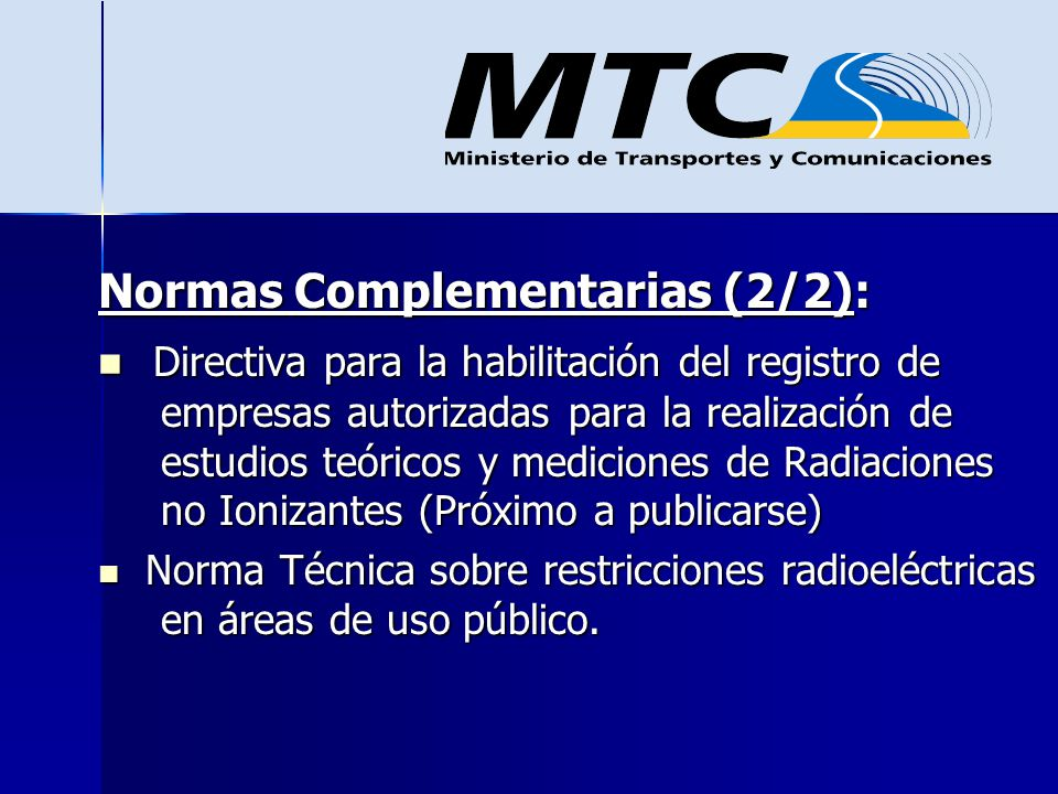 Normas Complementarias (2/2):