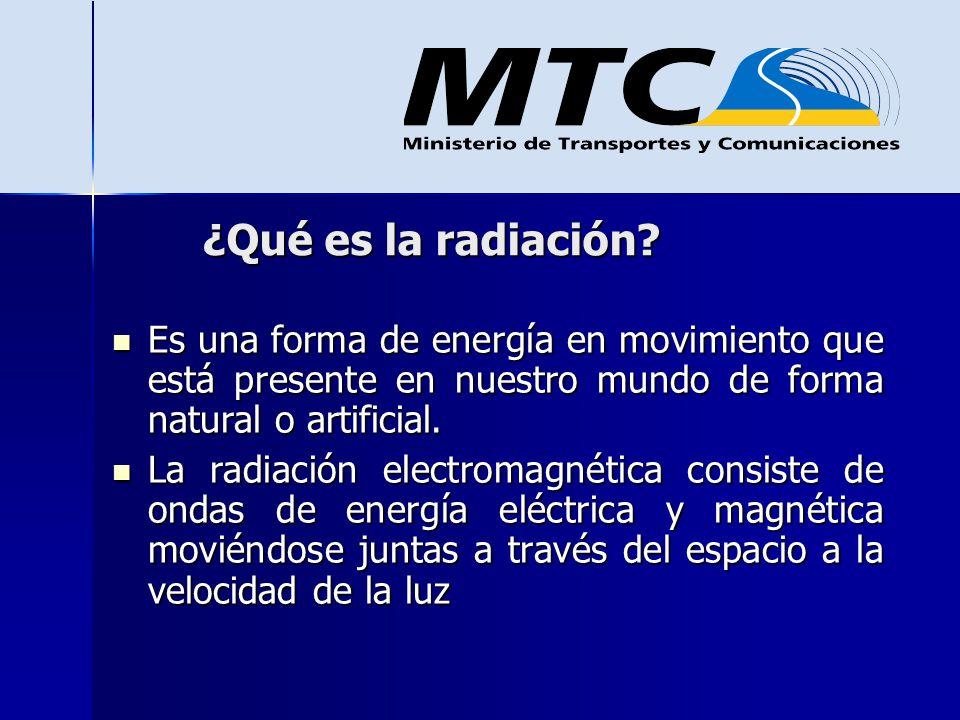 ¿Qué es la radiación Es una forma de energía en movimiento que está presente en nuestro mundo de forma natural o artificial.