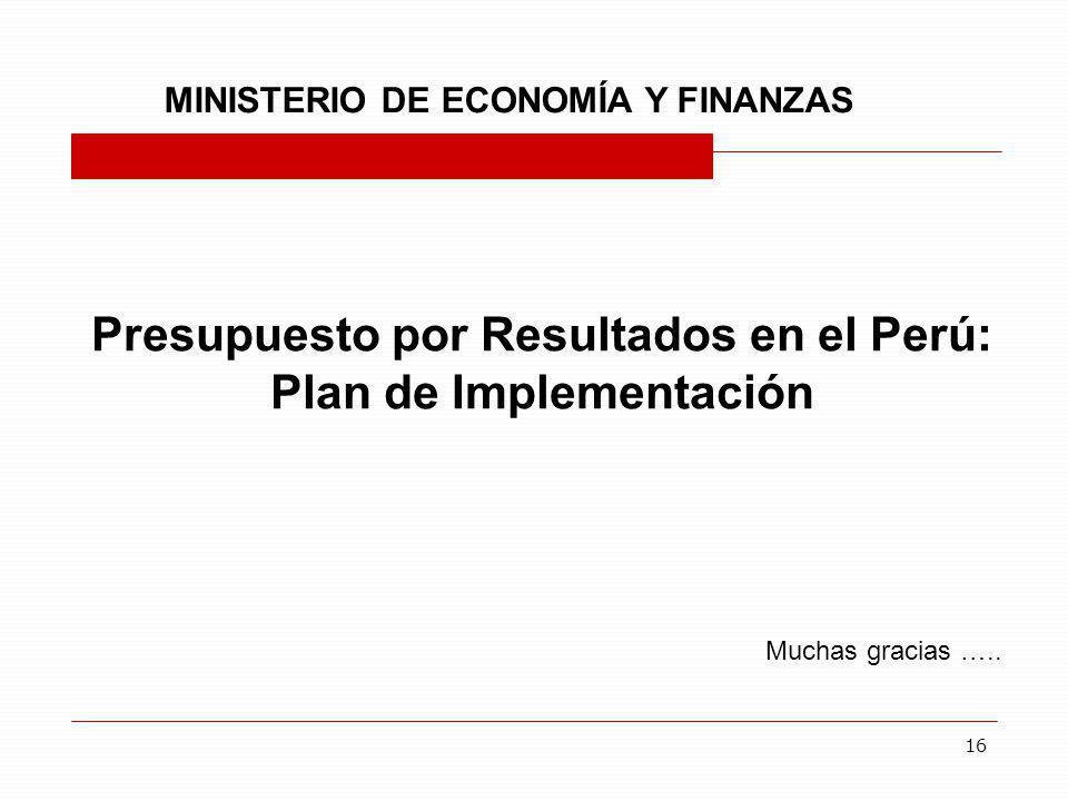 Presupuesto por Resultados en el Perú: Plan de Implementación