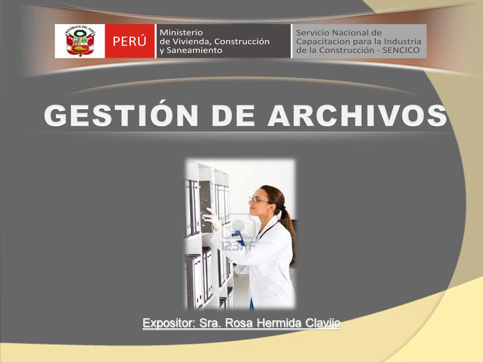 Expositor: Sra. Rosa Hermida Clavijo