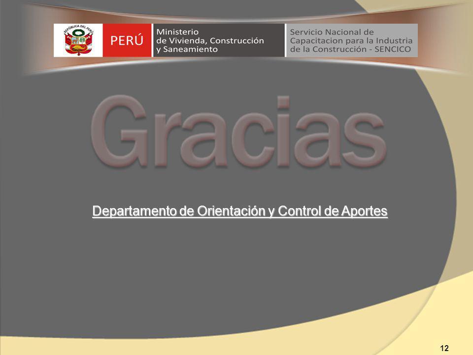 Departamento de Orientación y Control de Aportes