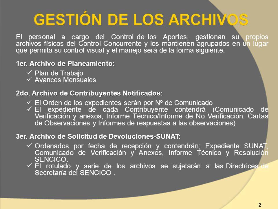 GESTIÓN DE LOS ARCHIVOS