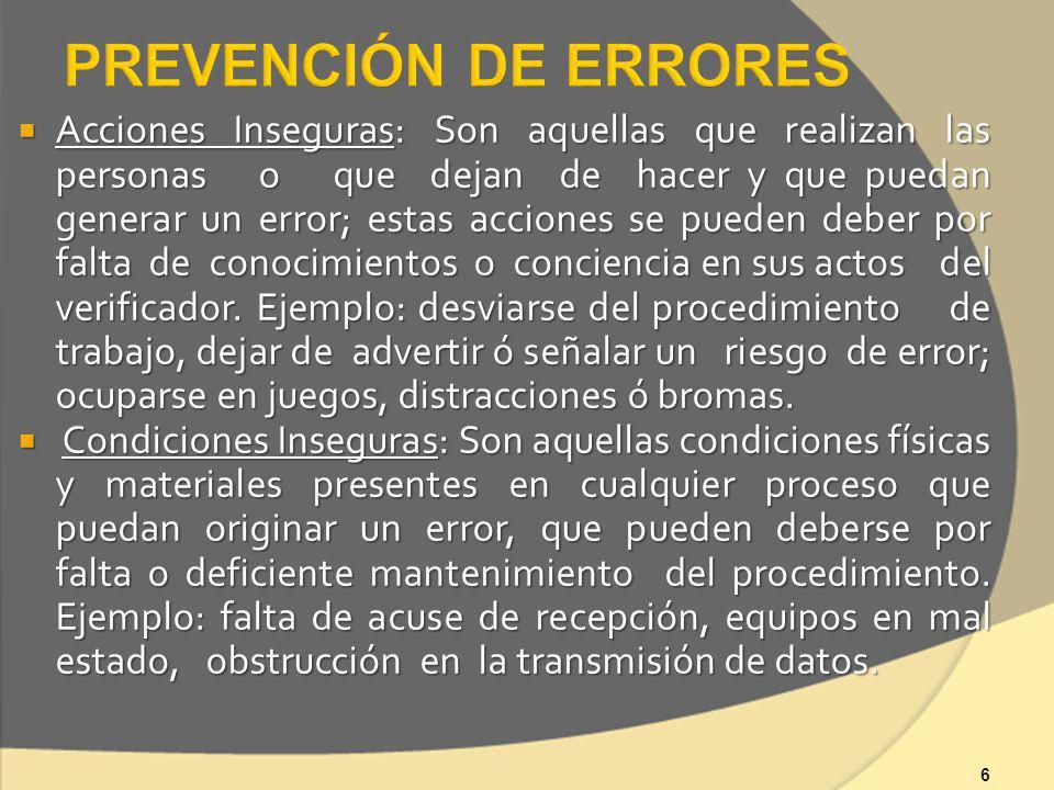 PREVENCIÓN DE ERRORES